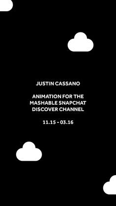 select animation created for the Mashable Snapchat Discover channel :o)