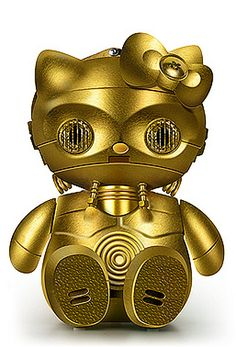 What do you get when you cross Hello Kitty with Star Wars? Lots of fun for Hello Kitty fans. I have pretty much come to the conclusion that Hello Kitty fan Hello Kitty Toys, Here Kitty Kitty, Rilakkuma, Totoro, Hello Kitty Collection, Star Wars Characters, Geek Out, Sanrio, Pop Culture
