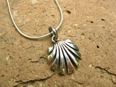 Sterling silver scallop shell necklace - concha de vieira found of the world's most famous pilgrimage journey - the WAY of St JAMES - el CAMINO se SANTIAGO