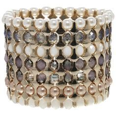 Shop this season's collection of clothes, accessories, beauty and more. Stretch Bracelets, Cuff Bracelets, Bangles, French Connection, Pearl Jewelry, Beaded Jewelry, Jewellery, Latest Fashion Clothes, Color Mixing