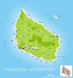 Hügelgräber auf Bornholm
