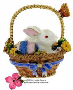 Easter Bunny Limoges Trinket Box