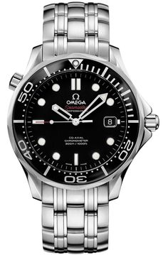 "Omega Men's Seamaster Chrono Diver ""James Bond"" Watch - - Set a course for adventure with this classic Omega Seamaster stainless steel men's automatic chronometer watch, part of Omega's Omega Seamaster 300, Omega Seamaster James Bond, Seamaster Watch, Omega Seamaster Automatic, Omega Speedmaster, Stainless Steel Watch, Stainless Steel Bracelet, James Bond Watch, Omega Seamaster Professional"