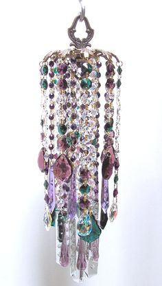 Photo Gallery | Sheris Crystal Designs. $90 to $110? No way, make this from old jewelry parts, rhinestone chain, etc!