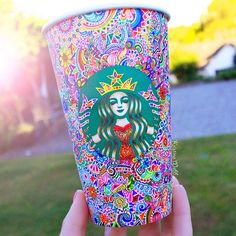 Decorated Starbucks cup