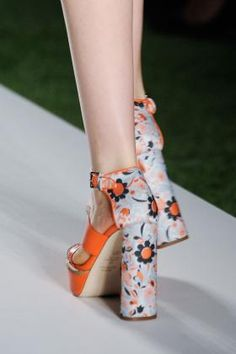 Mulberry SS14 Shoes. Not sure about the chunky heel but I love the colour and pattern