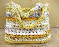 Large Summer Rag bag Eco friendly Fabric Crocheted von odpaam ♡♡