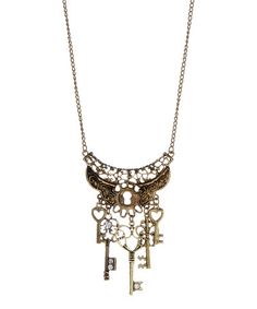 Love this Bronze Keys Festoon Necklace on #zulily! #zulilyfinds price reduced from $50.00 to $12.99