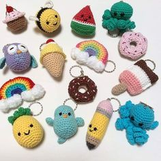 Discover recipes, home ideas, style inspiration and other ideas to try. Kawaii Crochet, Crochet Food, Cute Crochet, Crochet Crafts, Crochet Projects, Crochet Keychain Pattern, Crochet Earrings Pattern, Crochet Bookmarks, Crochet Patterns Amigurumi