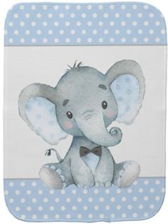 Boy elephant burp cloth with cute baby boy elephant wearing a bow tie on a blue polka dot background. These adorable elephant baby burp cloths are easily customized with text and you can change the background color. Baby Shower Niño, Baby Shower Gifts For Boys, Baby Gifts, Newborn Gifts, Elephant Baby Blanket, Elephant Theme, Baby Blankets, Baby Shower Invitaciones, Polka Dot Background