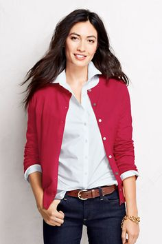Women s Supima Cardigan Sweater from Lands  End Sommer, Farben, Grünes  Cardigan-outfit d0b0ca1b24