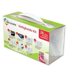 Een handige box met kinderveiligheidsproducten, deze veiligheidskit! Kit, Transparent, Facial Tissue, Personal Care, Products, White People, Homes, Children, Self Care