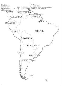 Mnemonics to Learn the countries of south america See also http://www.activityvillage.co.uk/outline_maps.htm