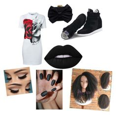 """""""miss dont care"""" by gerrika ❤ liked on Polyvore featuring McQ by Alexander McQueen, Franchi and Lime Crime"""