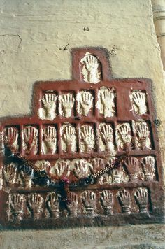 Hand Prints of Woman Who Did Jouhar In Chittorgarh Fort .