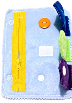 Quiet book closure addon page includes zipper, button, velcro, and snap.  We also have a green closure page