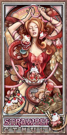 Dessert Madness Nouveau. Strawberry Cthulhu.