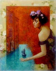 Art of Francois Fressinier - Photos Muse Kunst, Claudia Tremblay, Muse Art, Painting Wallpaper, French Artists, Beauty Art, Illustrations, Figure Painting, Art Forms