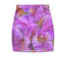 Wild Orchids mini skirt featuring the art of Carol Cavalaris.
