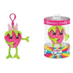 The Original Whiffer Sniffers are scented, stuffed characters with a clip so kids can attach them to backpacks or lockers.