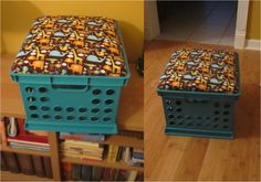 Blog post-How to make your own crate seats! Easy and useful!
