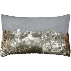 Eos Gold Sequin Lumbar Throw Pillow ($163) ❤ liked on Polyvore featuring home, home decor, throw pillows, modern throw pillows, gold sequin throw pillow, lumbar throw pillow, eos and modern home decor