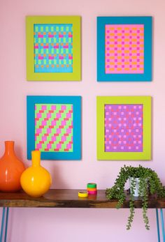 Use paper weaving to