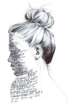 Anyone's Ghost by Grace Easton - Art & Inspiration - Art Arte Gcse, Gcse Art, Art Sketches, Art Drawings, Pencil Drawings, Drawing Faces, Pencil Art, Side Of Face Drawing, Drawings Of Love