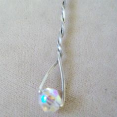 Countess Crystal  Pendant Wirewrapped in SS by WirequeenJewelry, $25.00