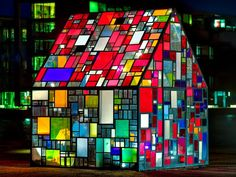 The Flying Tortoise: Tom Fruin's Wonderfully Colourful Stained Glass House Is On Display At Brooklyn Bridge Park...