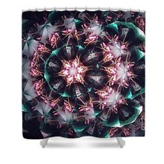 Shower Curtain featuring the photograph Kaleidoscope Snowman3 by Equad Images