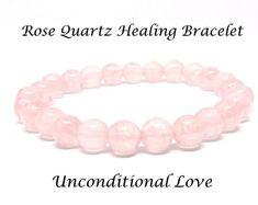 Rose Quartz Gemstone Healing Bracelet for Love – Eluna Jewelry Designs Healing Bracelets, Love Bracelets, Stretch Bracelets, Cuff Bracelets, Rose Quartz Bracelet, Pink Gemstones, Pink Quartz, Jewelry Design, Designer Jewelry