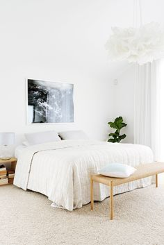cool, calm and collected bedroom Inside an Airy Home in Sydney's Trendiest Neighborhood | Rue