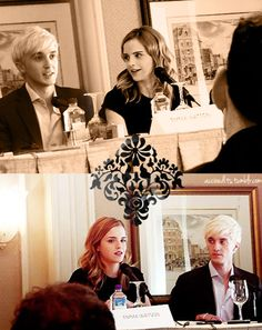 We'll just pretend this is some kind of press conference they gave after announcing their engagement #dramione