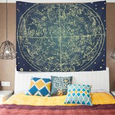 Amazon.com: ALAZA Cottage Dorm Decor Wall Hanging Tapestry,12 Constellation Zodiac Sings,Bedroom Living Room Beach Doorway Curtain Christmas Thanksgiving Day Decoration 60x40 inch: Home & Kitchen
