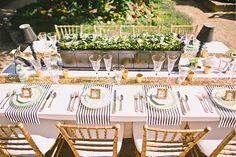 Rustikale Hochzeit Tischdekoration Ideen 2014 2015 golden streifen Tischtuch Rustikale Hochzeit Tischdekoration Ideen 2014 2015