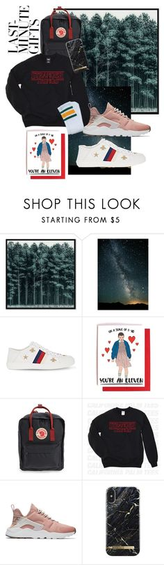 """""""#PolyPresents: Last-minute gifts for a stranger things fan yet still need to care for fashion ☕️"""" by anastasiaaudi ❤ liked on Polyvore featuring West Elm, Gucci, Fjällräven, NIKE, contestentry and polyPresents"""