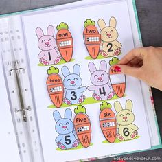 Printable Easter Quiet Book & Activity Book for Pre-K and K Crafts for Kids, Coloring pages, How to Draw TutorialsPrintable Easter Quiet Book – Activity Book for Pre-K and KCount with the bunnies and Bug Activities, Easter Activities For Kids, Activities For 2 Year Olds, Toddler Learning Activities, Fun Learning, Kindergarten, K Crafts, Interactive Learning, Ideas