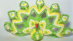 3D origami royal peacock tutorial
