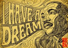 The typography is appropriate for the 60s, when this famous speech was delivered. Social Justice Design
