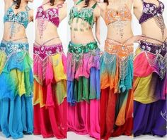 Three Tier Color Fusion Skirt - Belly Dance Digs