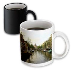 3dRose The sun setting over the unique buildings of Amsterdam, Magic Transforming Mug, 11oz
