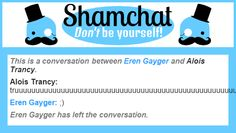 A conversation between Alois Trancy and Eren Gayger
