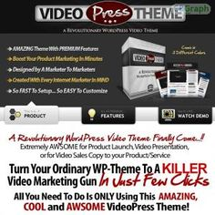 Video Press Theme Was Created With Every Internet Marketer In Mind. The Video Press Theme Allows You To Use The Full Power Of Wordpress To Create A Great Looking, High Converting, Video Sales Or Video Presentasion Pages With Jus Affiliates 60% Commissions See more! : http://get-now.natantoday.com/lp.php?target=mketinero