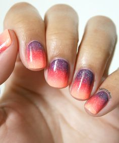 Sunset Gradient (vu sur Glitter and Nails @Marie )