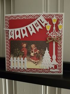 Julekort. Håndlaget av Kristina Haug, Søndre Land. Christmas card by Kristina Haug, Norway.