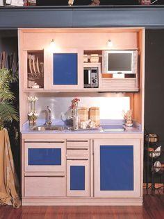 Homestar mueble para microondas alto 76 x 46 x 170 cm for Armarios de cocina en kit