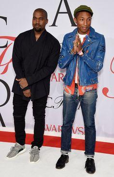 Pin for Later: Seht die schönsten Outfits der Stars bei den CFDA Awards in New York Kanye West und Pharrell Williams