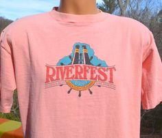 vintage t-shirt 80s french broad RIVER FEST tee by skippyhaha