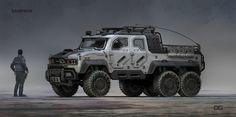 Titanfall 2 Samson Truck by Danny Gardner on ArtStation.